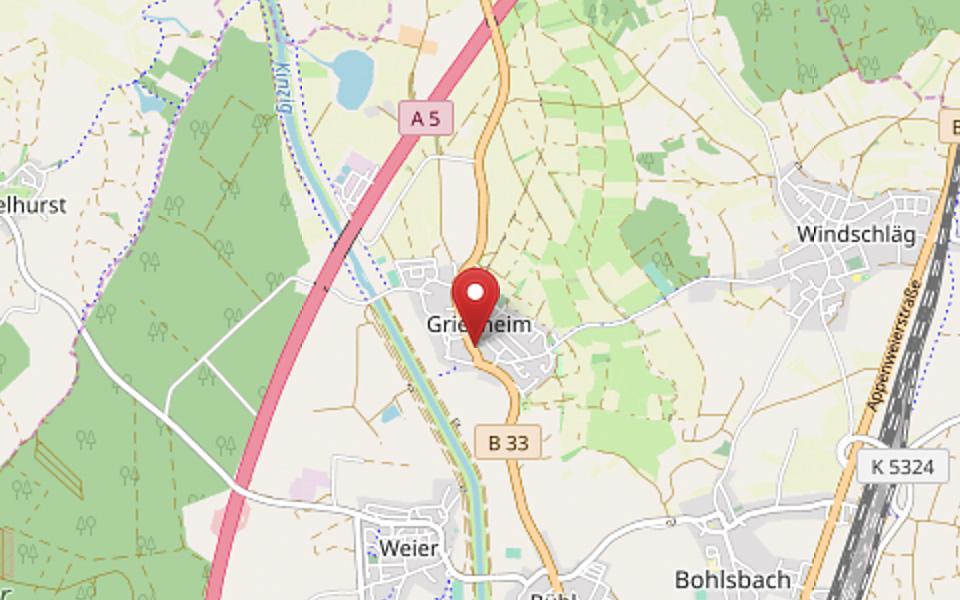 Standort Grafs Adler - Karte ©OpenStreetMap